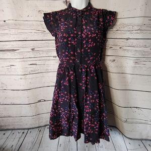 Madewell Floral 100% Silk Dress